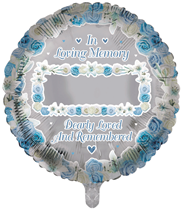 """Remembrance Memorial 18"""" Round Foil Balloon"""