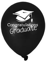 "Congraulations Graduate 12"" Latex Balloons 6pk"