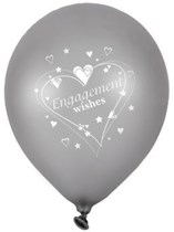 """Engagement Wishes 12"""" Latex Balloons 6pk"""