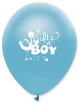"Blue Pearl It's A Boy 12"" Latex Balloons 6pk"
