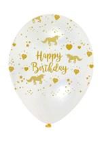 "Unicorn Sparkle 12"" Printed Latex Balloons 6pk"