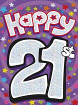"""Happy 21st"" Flag Banner"
