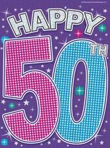 """Happy 50th"" Flag Banner"