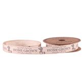 Homegrown Grey Linen Ribbon 15mm x 5yds
