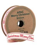 Merry Christmas Ribbon 5m