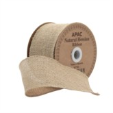 Extra Wide Natural Hessian Ribbon 10yds