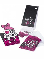 Pink Pirates Party Invitations & Envelopes 6pk