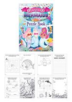 Mermaids Party Favour Puzzle Book 48pk