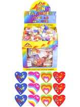 Heart Shaped Eraser Party Bag Favours - 84pk