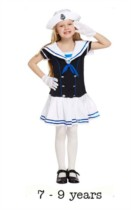 Child Sailor Girl Fancy Dress Costume 7 - 9 yrs