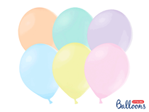 """PartyDeco Strong 12"""" Pastel Mix Latex Balloons 100pk"""