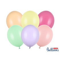 """PartyDeco Strong 12"""" Pastel Mix Latex Balloons 10pk"""
