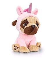 Pug Unicorn 14cm Soft Toy