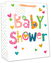 Baby Shower Colourful Medium Gift Bags 6pk
