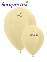 Sempertex Satin Yellow Latex Balloons