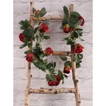 Red Rose Flower Garland 175cm