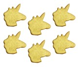 Sugarcraft Shimmering Gold 2.5cm Unicorns 6pk