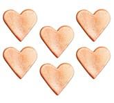 Sugarcraft Shimmering Pink Rose Gold 3cm Hearts 6pk