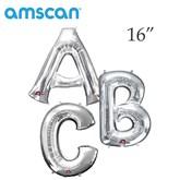"""Silver 16"""" Minishape Foil Letter Balloons"""