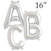 """16"""" Silver Letter Foil Balloons"""