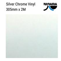Silver Chrome Metallic Vinyl 305mm x 1M