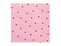 Valentine's Day Light Pink Hearts Napkins 20pk