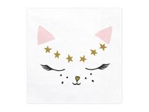 Meow Party Cat Face Napkins 20pk