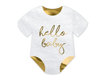 Hello Baby Foil Printed Napkins 20pk