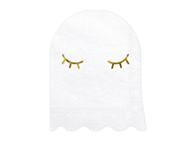 Halloween Ghost Shaped Napkins With Foil Detail 20pk