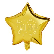 """Well Done Gold Star 20"""" Foil Balloon"""