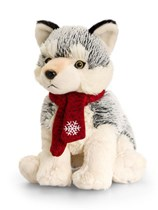 Christmas Husky Dog Cuddly Toy 20cm