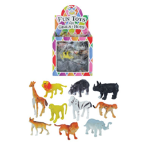 Assorted Mini Jungle Animal Figures 84pk