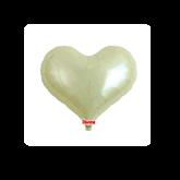 """Metallic Ivory 14"""" Heart Jelly Foil Balloon"""