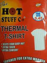 Extra Large White Thermal T-Shirt