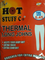 Extra Large White Thermal Long Johns