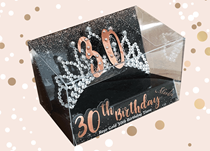 Rose Gold 30th Birthday Tiara
