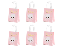 Halloween Pink Gift Bag With Foil Detail 6pk