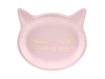 Meow Party Pink Cat Shaped Plates 6pk