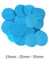 Round Paper Tissue Turquoise Confetti