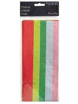 Mixed Rainbow Tissue Paper 5 Sheets