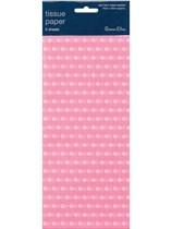 Light Pink Polka Dot Tissue Paper 3 sheets