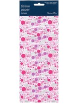 Pink and Silver Dotty Tissue Paper 3 sheets