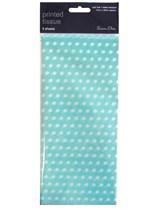 Light Blue Polka Dot Tissue Paper 3 sheets