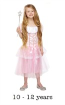 Children's Pink Princess Fancy Dress Costume 10 - 12 yrs (with wand)
