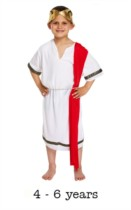 Children's Roman Senator Fancy Dress Costume 4 - 6 yrs