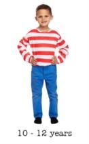 Child Striped Where's Wally Jumper Fancy Dress 10 - 12 yrs