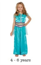 Children's Arabian Princess Fancy Dress Costume 4 - 6 yrs
