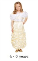 Children's Belle Beauty Princess Fancy Dress Costume 4 - 6 yrs