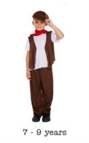 Children's Oliver Twist Chimney Sweep Fancy Dress Costume 7 - 9 yrs