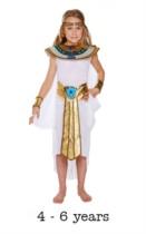 Children's Egyptian Girl Fancy Dress Costume 4 - 6 yrs